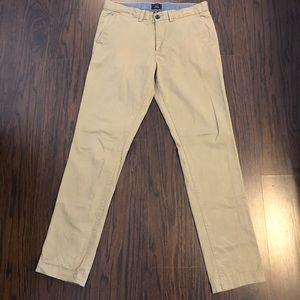 Gap khakis slim stretch men's size 33X 34